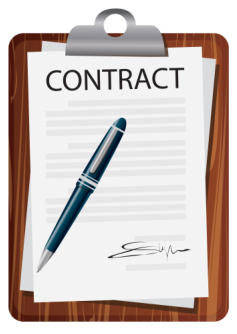 vector image of contract